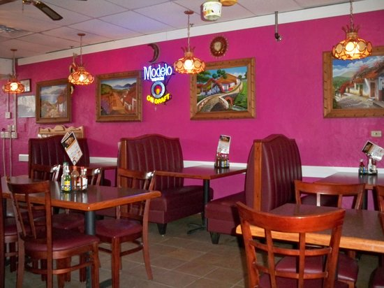 Fancy mexican restaurant interior