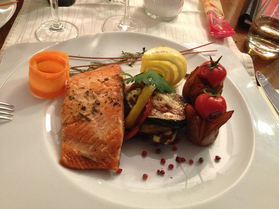 Bad Waldsee, Germany: Salmone grigliato