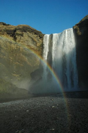 Skogar, Iceland: Rainbow at Skogafoss