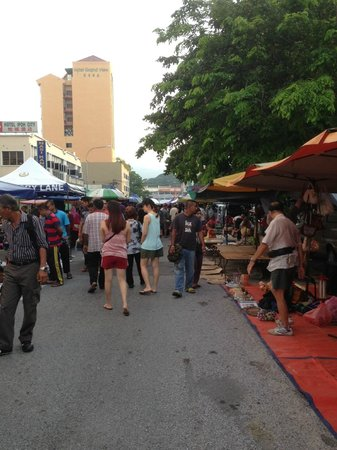 Sunday Flea market outside Tune Hotel Ipoh