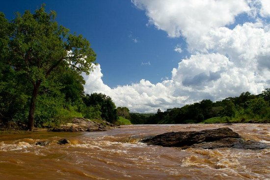 Nkhotakota, : The Bua River in Nkhotakota Wildlife Reserve