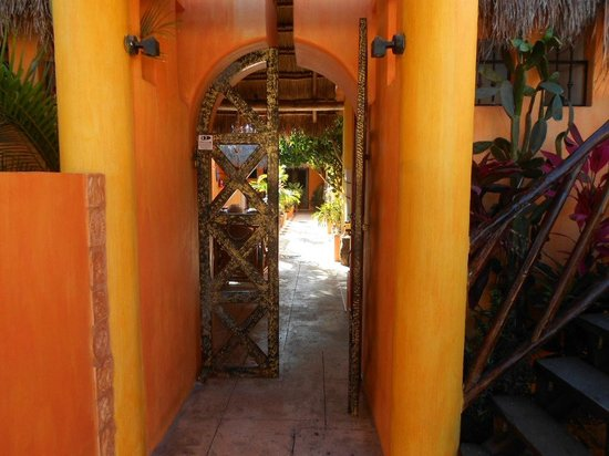 "Casita de Maya: The front entry gate to ""Paradise"""