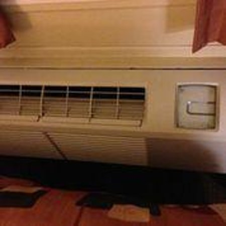 CrestHill Suites Albany: Air conditioner (missing door on right side)