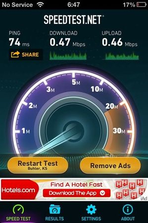 Hyatt Place Salt Lake City Airport: very slow wifi results in lobby
