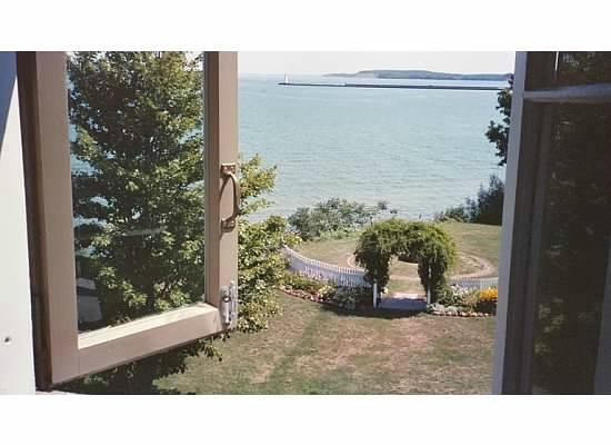 Sodus Point, : Looking at Bay from Lighthouse window