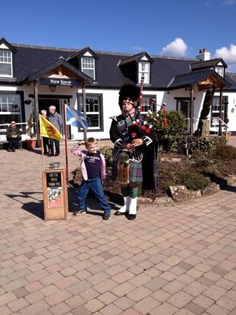 Gretna Green, UK: bag piper