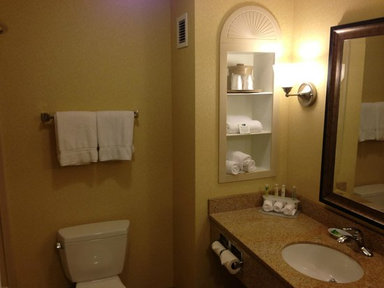 Holiday Inn Express Ontario Airport - Mills Mall: Basic amenities but clean and roomy