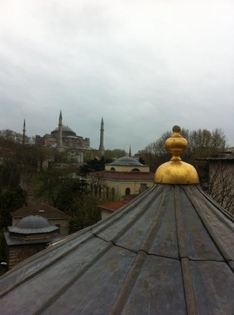 Yasmak Sultan Hotel: view from the rooftop restaurant