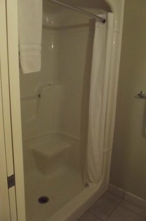 Mercer Hall Inn: Shower unit in 209