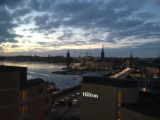 Hilton Stockholm Slussen: amazing view from my hotel suite