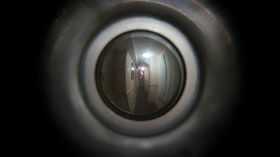 Comfort Inn Manhattan: View out of our peep hole in the door