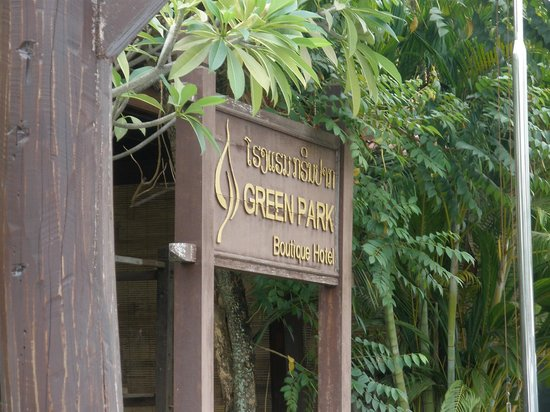 Green Park Boutique Hotel: entrance of the hotel