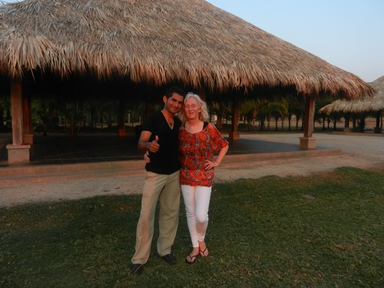 La Posada at Hacienda Pinilla: Flushed but elated after salsa class!