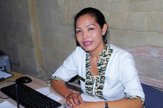 Royal Resorts: Royal Bali Beach Club at Jimbaran Bay: Kadek the best receptionist
