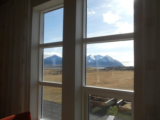 Borgarnes, Islandia: Window view