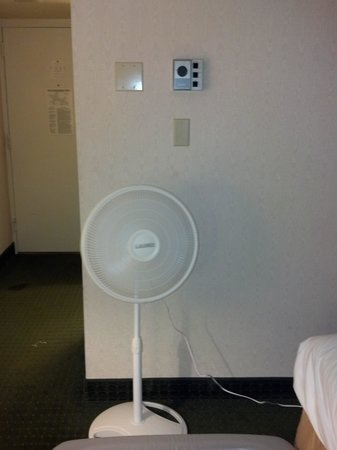 Clarion Hotel & Conference Center: This was their solution to not having air conditioning.