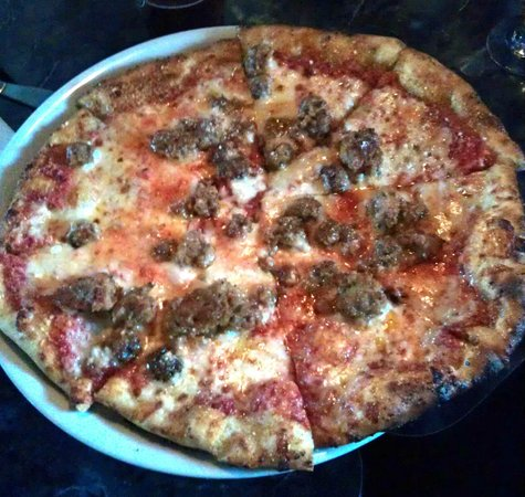 Glens Falls, NY: Fennel Sausage pizza - House made fennel sausage, house blend mozzarella, crushed tomato.