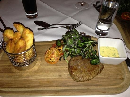 BEST WESTERN, The Connaught Hotel: Fillet steak with probably the best chips I've had in my life !