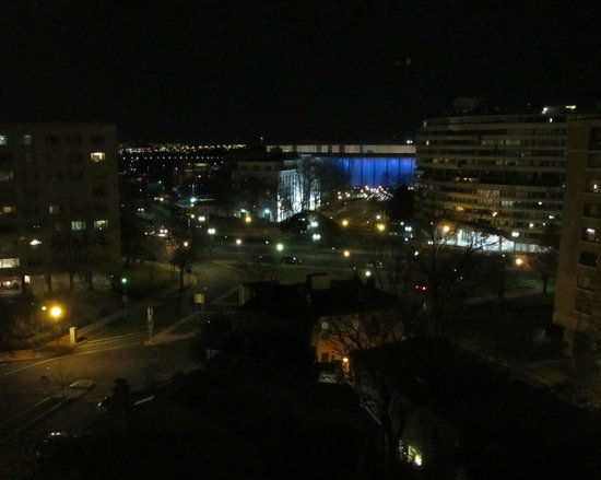 George Washington University Inn: View of the Kennedy Center from our room