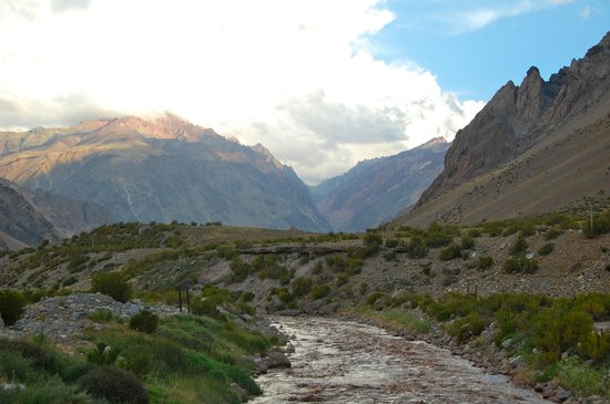 Los Penitentes, Argentyna: The creek behind the hotel.