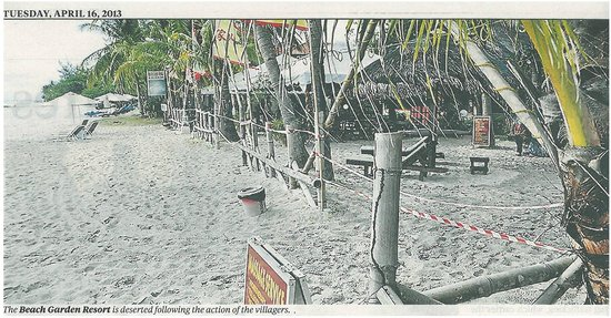 Beach Garden Resort: The photo of the hotel - &quot;NST&quot; 16th April 2013