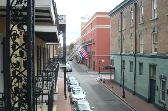 Holiday Inn New Orleans - Chateau Lemoyne: view from our balcony looking down Bienville St toward Dauphine and Bourbon St