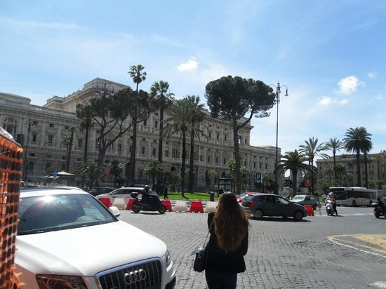 Visconti Palace: View from near hotel to Piazza Cavour