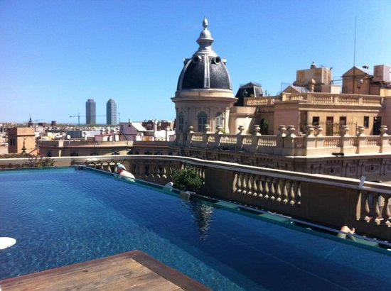The view from the rooftop picture of ohla hotel for Ohla hotel barcelona