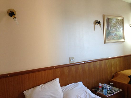 Hotel Dan Inn Araraquara: No shades for the bedside lights
