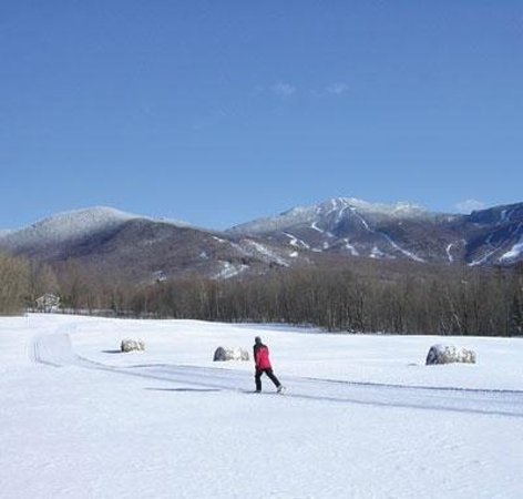 Smugglers Notch, : Cross country skiing at Smugglers&#39;