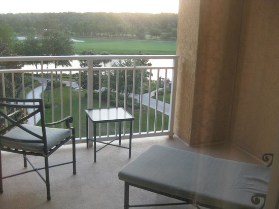 Ritz-Carlton Orlando Grande Lakes: one of our balconies