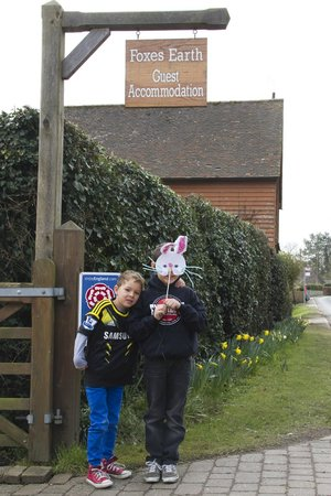 Grafty Green, UK: Easter at Foxes Earth - we will never forget it! Charlee &amp; Reilly