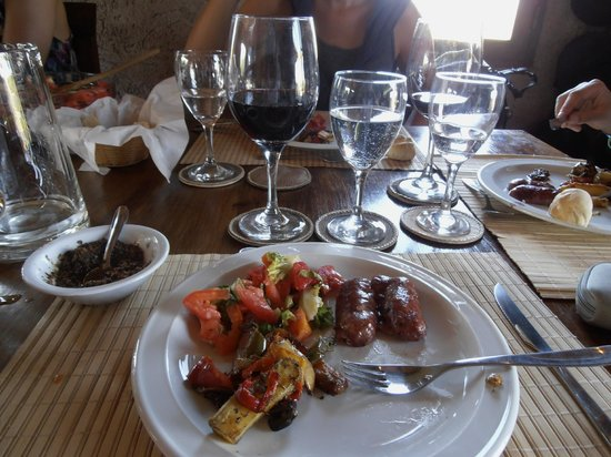 Estancia La Alejandra: Almuerzo (lunch). Could not move after... Too good.