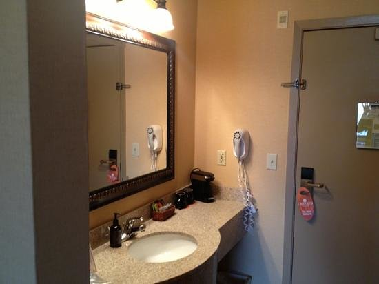 Oxford Suites Portland - Jantzen Beach: sink and entry door