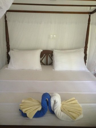 Unawatuna Nor Lanka Hotel: bequemes Doppelbett