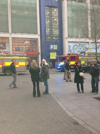 Hilton Nottingham: evacuated