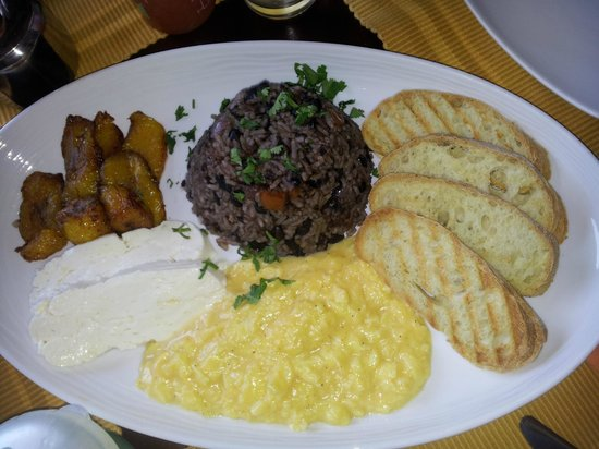 Cafe Liberia: Typical Costa Rican breakfast