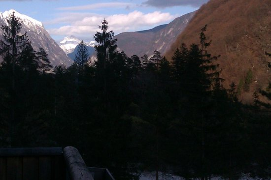 Bovec, Slovenien: View from the balcony