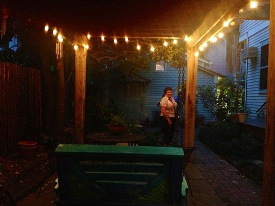 Chimes Bed and Breakfast: side yard at night