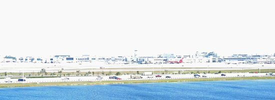 Homewood Suites Miami-Airport / Blue Lagoon: View of the airport
