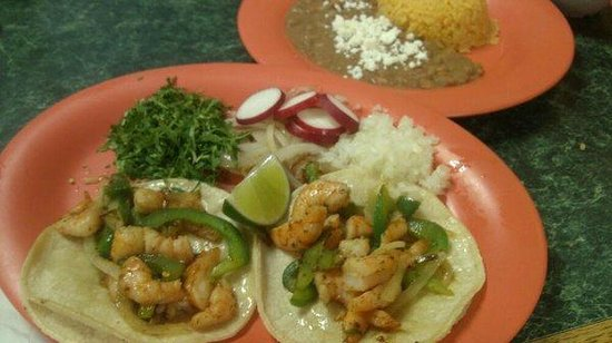 Cayce, Güney Carolina: shrimp tacos