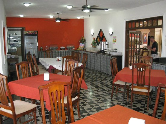 Hotel Dolores Alba Merida: Breakfast room.