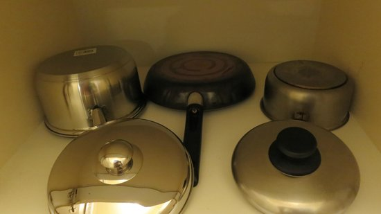 City Waters: Brand new large pot, nonstick frypan, small saucepan
