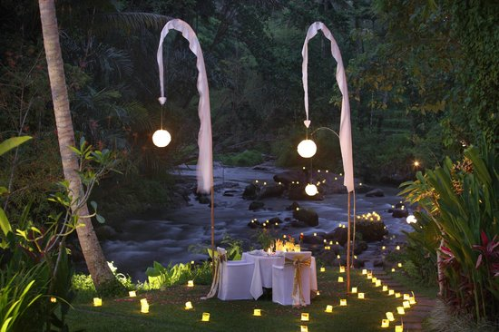 The Samaya Bali: Dinning set up