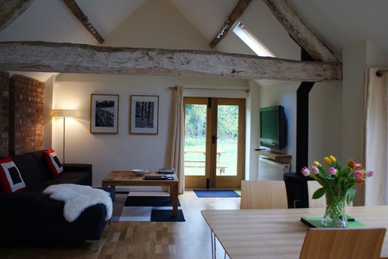 Henley-in-Arden, UK: Luxury lounge with log burner