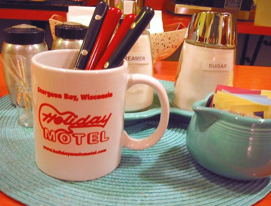 Holiday Music Motel: Mug from Breakfast Bar