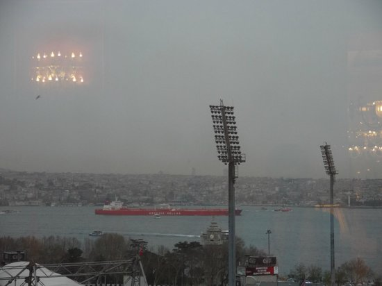 The Ritz-Carlton Istanbul: tanker passing by