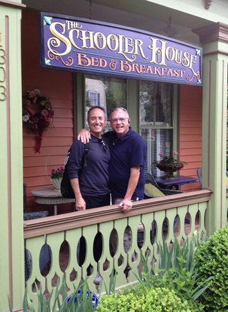 The Schooler House Bed & Breakfast: Outside the entrance of the B&B