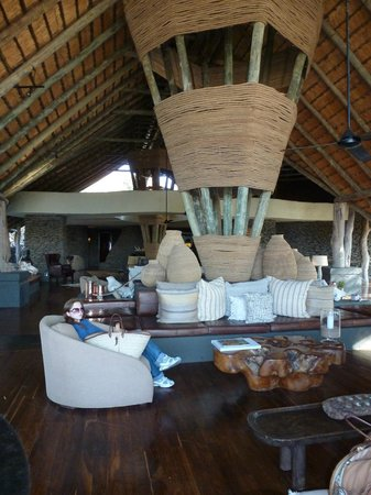 Singita Boulders Lodge: View of the Lobby