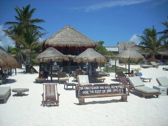 The beach chair picture of om tulum hotel cabanas and for Cabanas en mexico